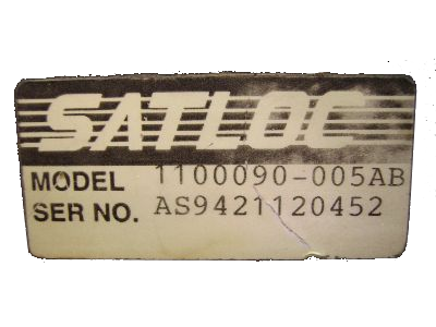 old satloc label